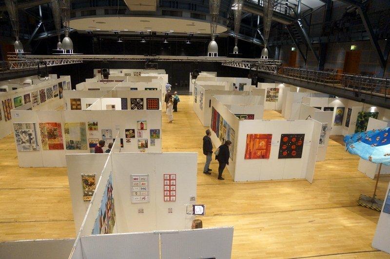 Übersicht über die Ausstellungen in der Halle Patchworktage 2016 in Celle