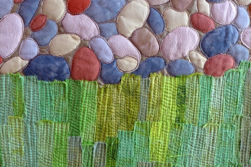 Kate Dowty: Boardwalk, Chesil, Detail 7. Quiltfestival Luxembourg