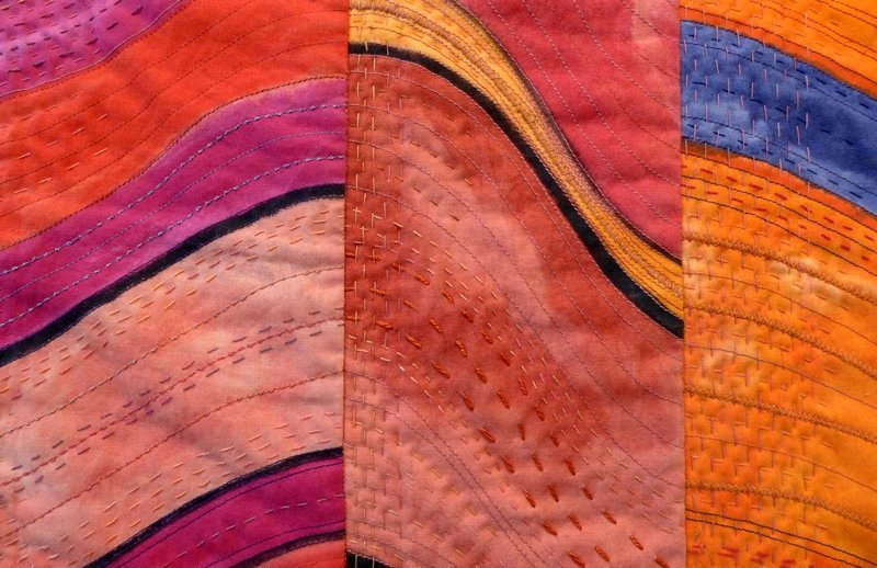 Kate Dowty: Pisac revisited, Detail 7. Quiltfestival Luxembourg