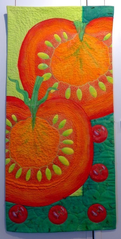Kate Dowty: Tomato 7. Quiltfestival Luxembourg