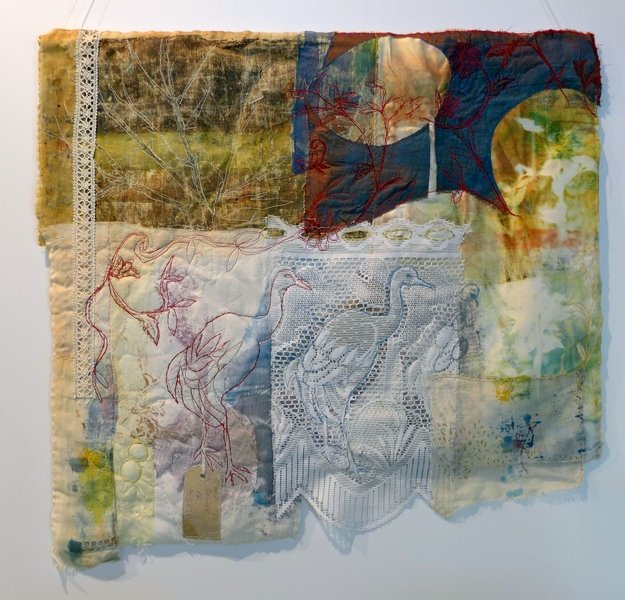 Cas Holmes: Two Cranes 7. Quiltfestival Luxembourg