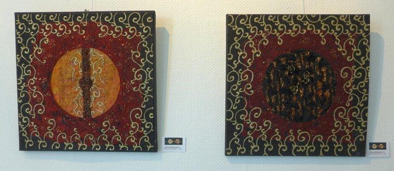 Juliette Eckel (D): Barocke Manipulation II und III Ausstellung '33 Momente des Glücks' 7. Quiltfestival Luxembourg