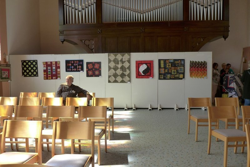 Blick in die Ausstellung der 'Button Quilters' 7. Quiltfestival Luxembourg
