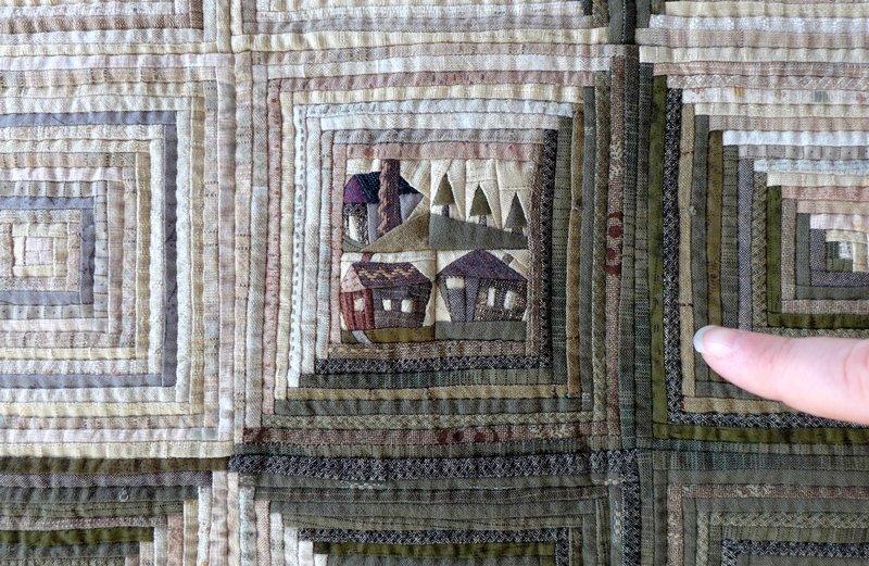 Quilt von Yvonne Schmitz, Detail Ausstellung der 'Button Quilters' 7. Quiltfestival Luxembourg