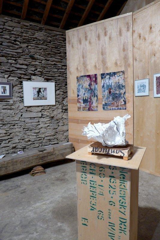 Blick in die Ausstellung von Britta Ankenbauer 7. Quiltfestival Luxembourg