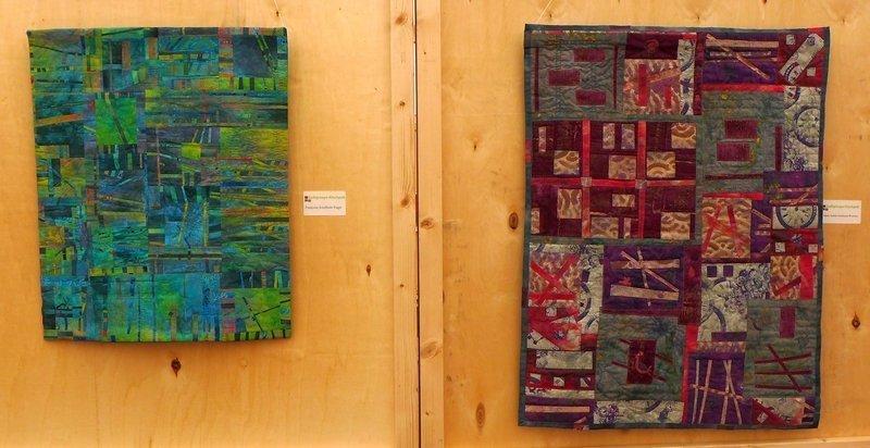 Quilts von Francoise Asselborn-Tragit (li) und Marie-Andrée Hulsbosch-Wickeler (re) Ausstellung der 'Quilt-Grupp Kiischpelt' 7. Quiltfestival Luxembourg
