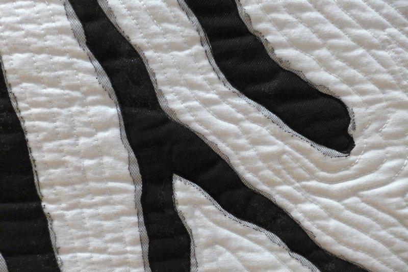 Lone Jensen: Zebra, Detail Ausstellung 'Streifen - frei interpretiert' der Quilterinnung aus Nordseeland, Dänemark Patchworktage 2016 in Celle