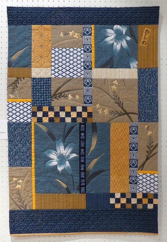 Lisbeth Borggren: Kashiwa Ausstellung 'Transkulturelle Textilien' Patchworktage 2016 in Celle