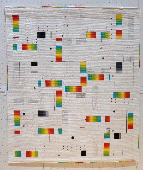 Lisbeth Borggren: Background Noise (nach Yoshiko Jinzenji) Ausstellung 'Transkulturelle Textilien' Patchworktage 2016 in Celle