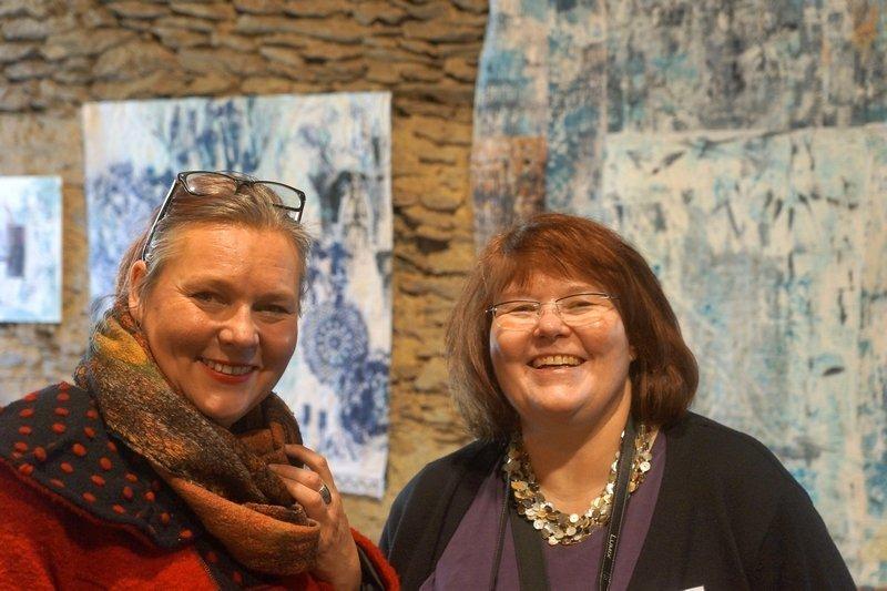 Britta Ankenbauer (li) und Gudrun Heinz (re) 7. Quiltfestival Luxembourg