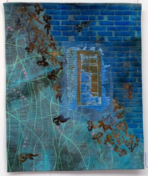 Ragnhild Eckhoff Kjenme: Transition Ausstellung von Sting Art Quilt Group 7. Quiltfestival Luxembourg