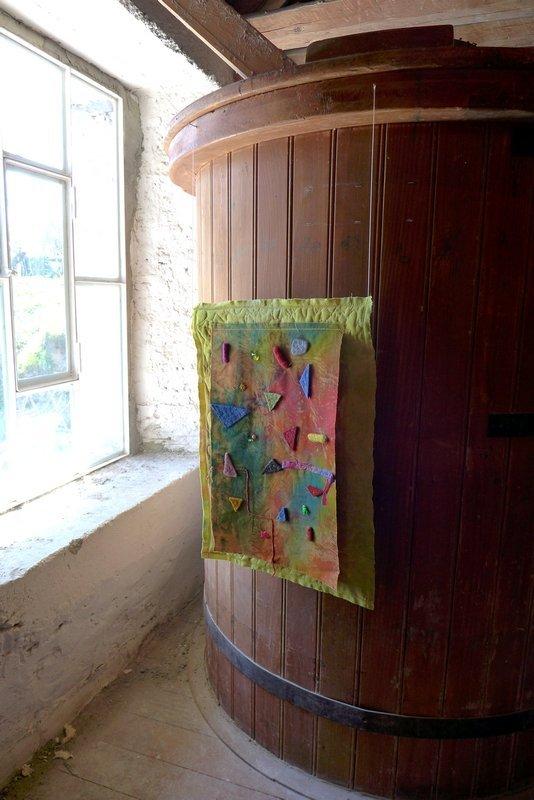 Brigitte Witte: Farbexplosion Ausstellung der Gruppe 'Grenze(n)loos' 7. Quiltfestival Luxembourg
