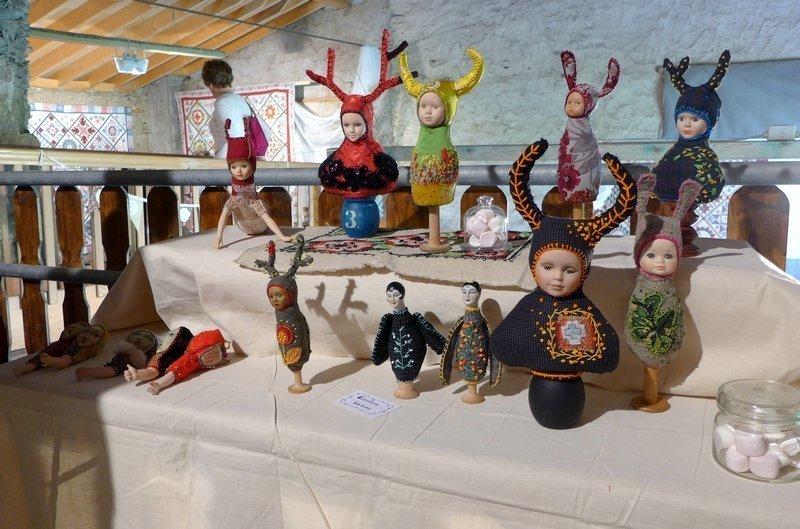 Blick in die Ausstellung von 'Justine and Cow' 7. Quiltfestival Luxembourg