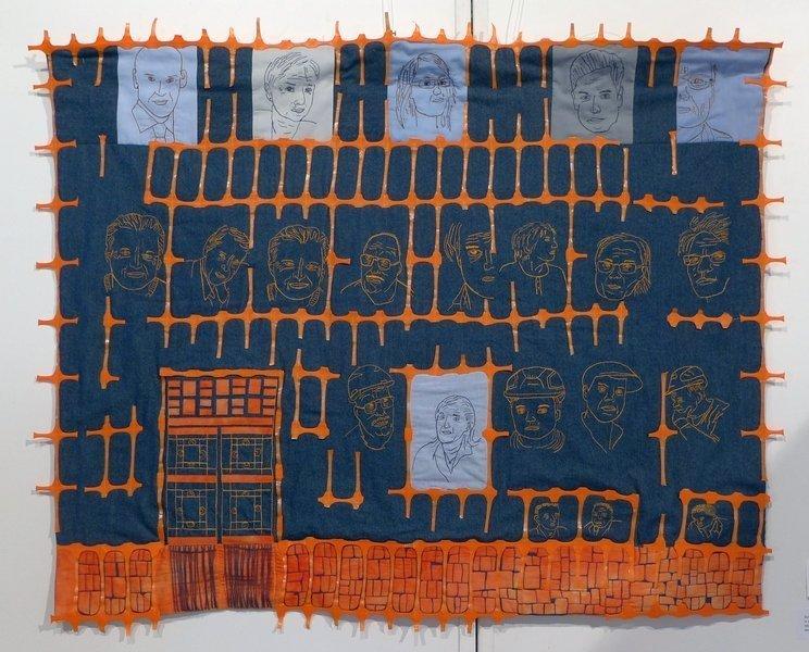 Romy Boentges: Bleu de travail Ausstellung der Gruppe 'Cotton House Quilter' 7. Quiltfestival Luxembourg