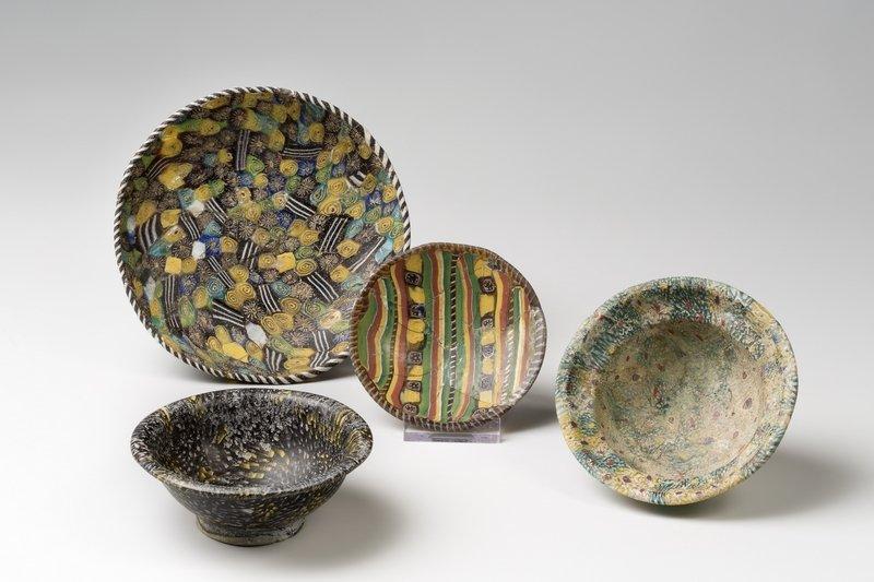 Kleine Schalen aus Mosaik- und Millefioriglas. 1. Jahrhundert n. Chr. Römisch-Germanisches Museum Köln. © Römisch-Germanisches Museum/Rheinisches Bildarchiv Köln, Anja Wegner