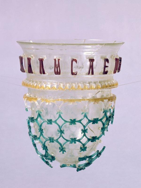 Kölner Diatret Glas, um 330-340 n.Chr. Römisch-Germanisches Museum Köln. © Römisch-Germanisches Museum/Rheinisches Bildarchiv Köln