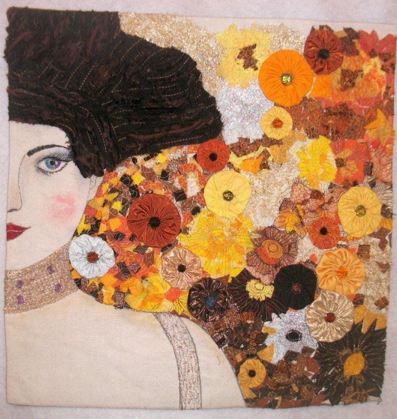 Ausstellung '…im Dialog / dialogando… ' Foto freundlicherweise von Quilt Et Textilkunst zur Verfügung gestellt.