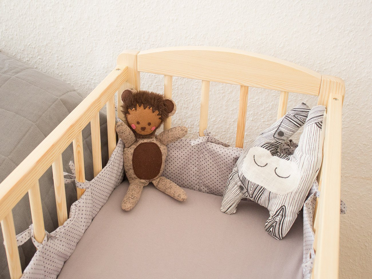 n hanleitung bettnestchen bettlaken f rs babybett bernina blog. Black Bedroom Furniture Sets. Home Design Ideas