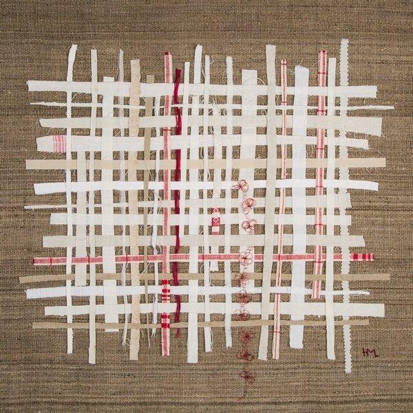 Heidemarie Mönkemeyer: Integration (Foto: H. Mönkemeyer) Ausstellung Zeitgenössische textile Kunst NADELWELT Karlsruhe 2016