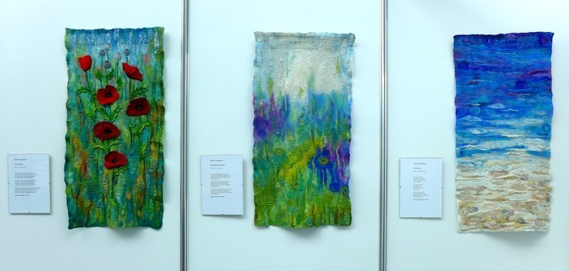 Arbeiten von Magda Goldbach Rainer Maria Rilke - eine textile Interpretation NADELWELT Karlsruhe 2016