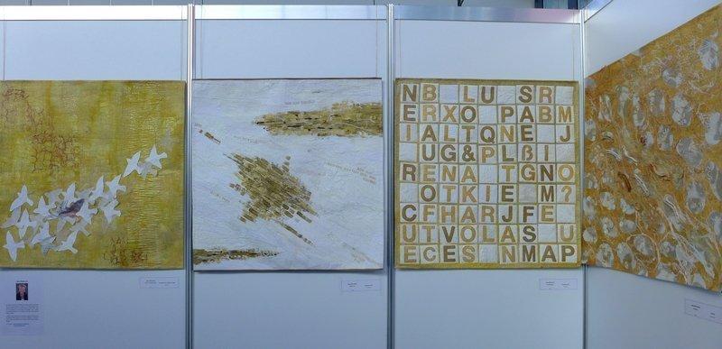 Arbeiten von Jana Sterbova Ausstellung von Art Quilt Harbour: EVOLON-Quilt Kollektion NADELWELT Karlsruhe 2016