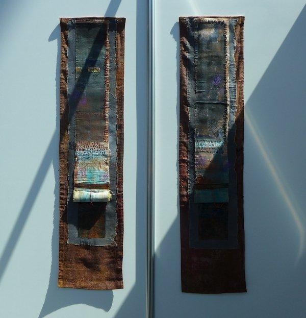Arbeiten von von Els van Baarle Ausstellung Spuren der Vergangenheit NADELWELT Karlsruhe 2016