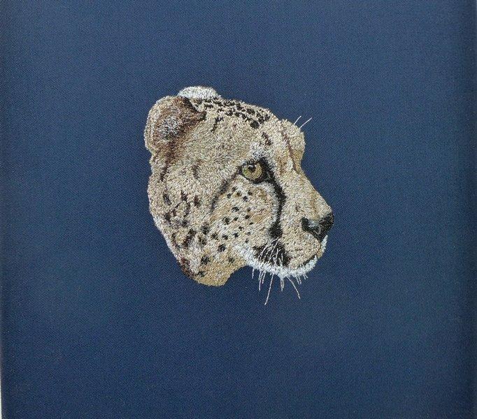 Arbeit von Janine Heschl Ausstellung Textile Tierporträts NADELWELT Karlsruhe 2016