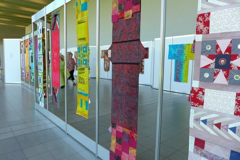 Ausstellung Pias Quiltwerkstatt - Asien NADELWELT Karlsruhe 2016