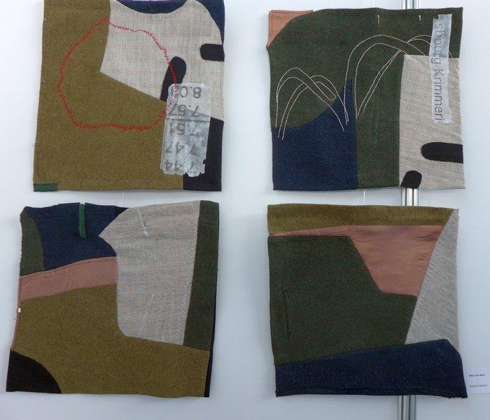 Annett Andersch: hier und dort Ausstellung Ouest ou est II - ein Dialog NADELWELT Karlsruhe 2016