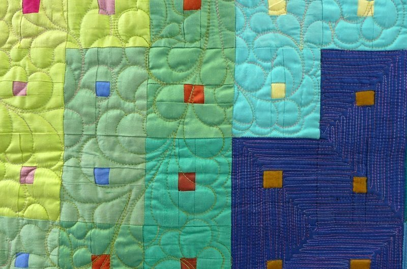Bernadette Mayr: Swirl, Detail Ausstellung 2015 World Quilt Competition - deutsche Teilnehmerquilts NADELWELT Karlsruhe 2016