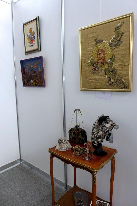 Ausstellung Tatjana Golder: Haute Embroderie NADELWELT Karlsruhe 2016