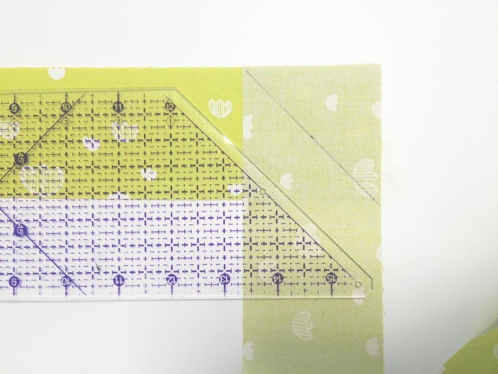 Binding Streifen diagonal anlegen