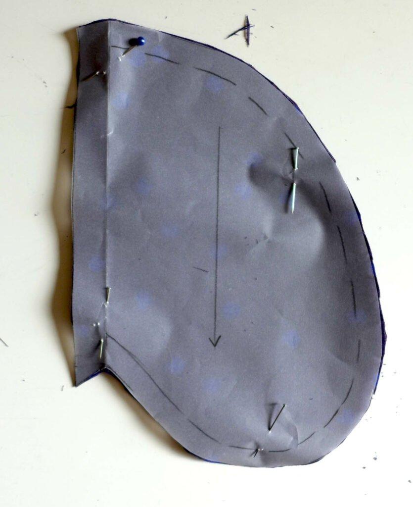 Nahttasche zugeschnitten