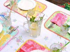 Patchwork - Tischset aus Wachstuch