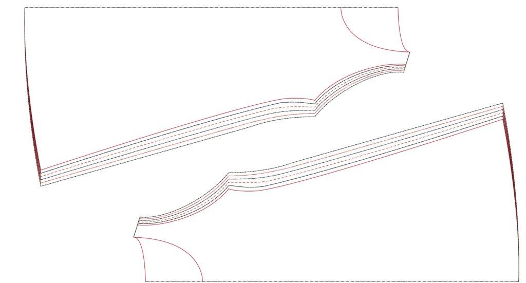 Schnittauflageplan A-Kleid