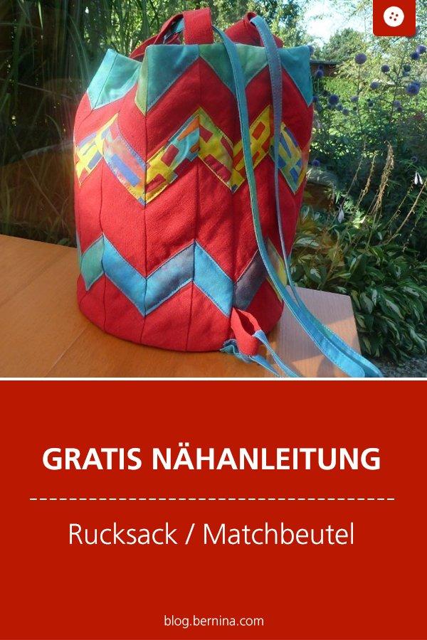 Kostenlose Nähanleitung: Beutel fürs Duschzeug / Rucksack / Matchtasche