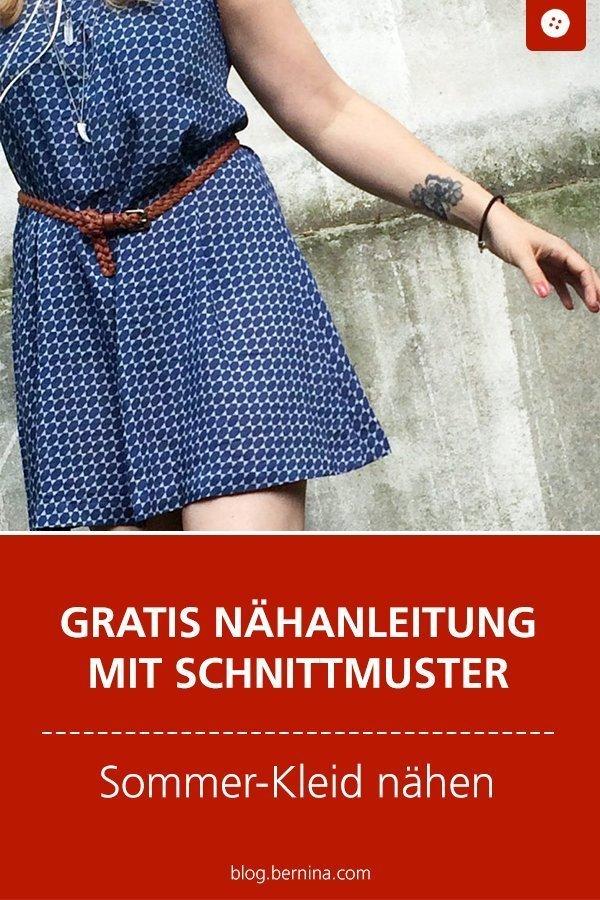 Kostenloses Schnittmuster und Nähanleitung für Sommerkleid oder Bluse