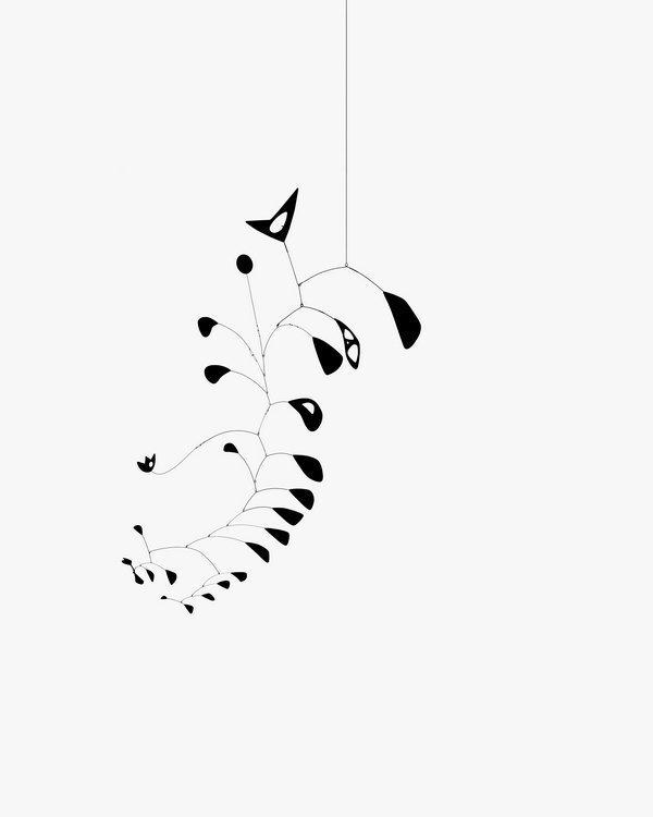 Alexander Calder The S-Shaped Vine, 1946 Metallblech und Draht, bemalt, 250,2 x 200,7 cm The Eli and Edythe L. Broad Collection © 2016 Calder Foundation, New York / ProLitteris, Zürich Foto: Calder Foundation, New York / Art Resource, New York