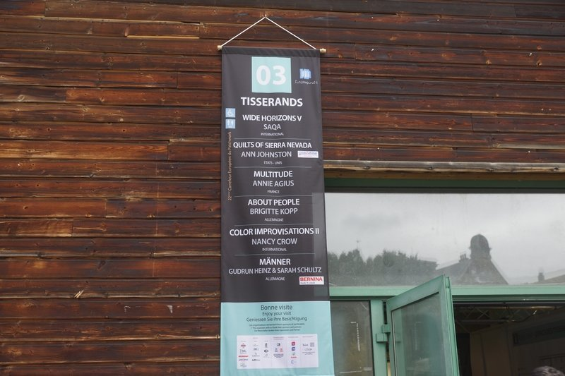 Hinweis am Espace des Tisserands EPM 2016 Ste Marie-aux-Mines