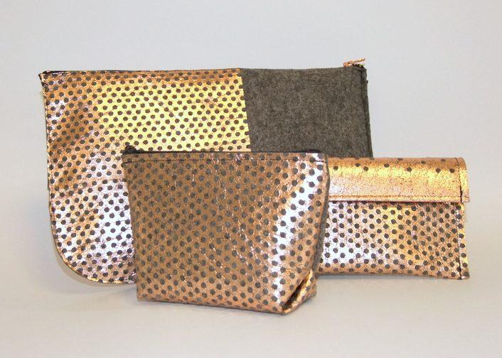 Filztasche mit Metallprint