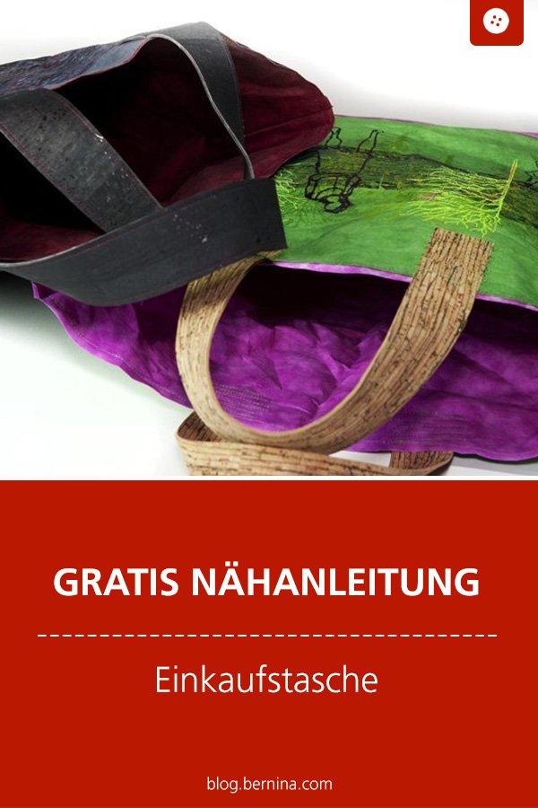 Kostenlose Nähanleitung: Einkaufsbeutel / Einkaufstasche aus Kulörtexx