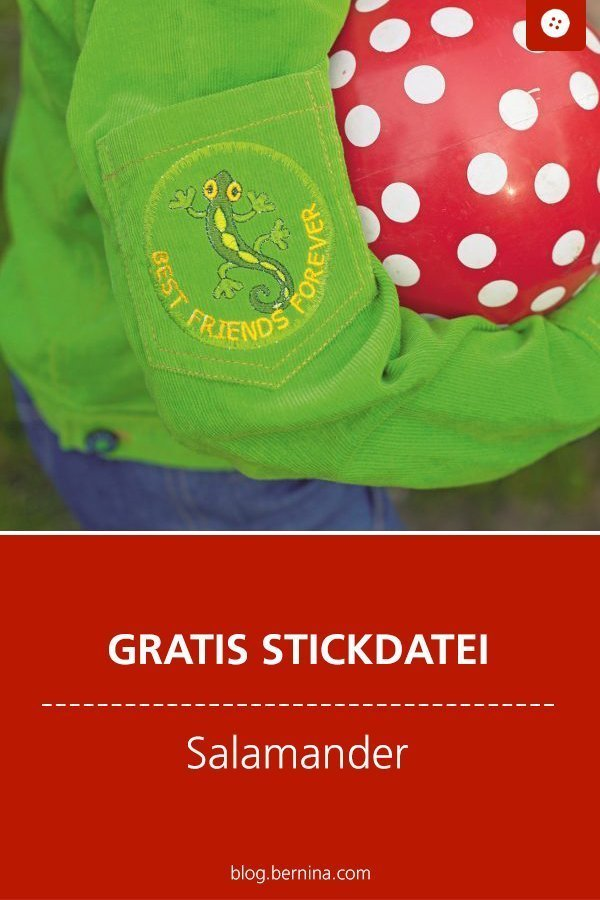 Gratis Stickdatei: Salamander Best Friends Freebie  #stickdatei #stickmuster #stickvorlage #kinder #salamander  #nähen #bernina #vorlage #diy #tutorial #freebie