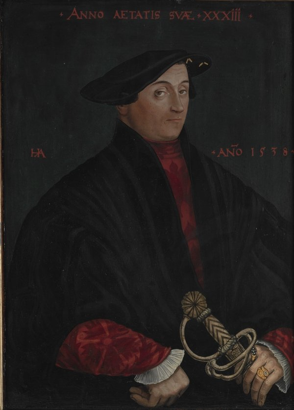 Hans Asper (um 1499-1571) Porträt von Andreas Schmid Zürich, 1538 Tempera und Öl auf Holz, 63,5 x 45,5 cm Schweizerisches Nationalmuseum, Inv.-Nr. LM-3716 Foto freundlicherweise vom Schweizerischen Nationalmuseum zur Verfügung gestellt.