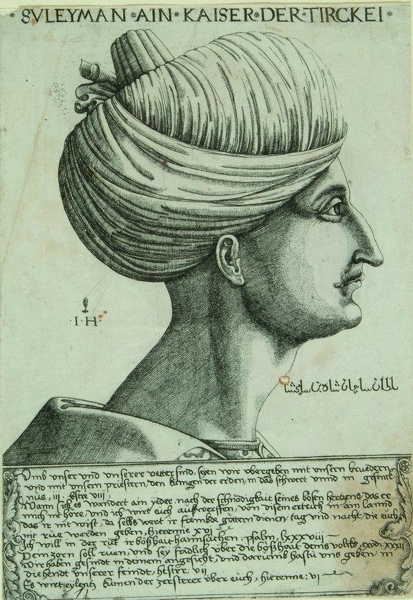 Hieronymus Hopfer Süleyman I. 1530-40 (?) Kunstsammlungen und Museen Augsburg, Grafische Sammlung, Inv.-Nr. G 11981 Foto freundlicherweise vom Schweizerischen Nationalmuseum zur Verfügung gestellt.