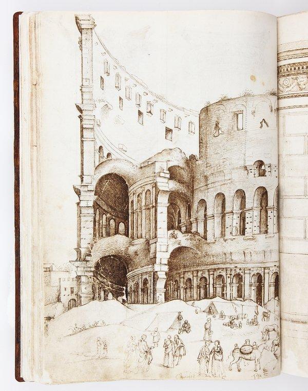 Domenico Ghirlandaio (1449–1494) zugeschrieben, Codex Escurialensis Italien, um 1491 © PATRIMONIO NACIONAL, Real Biblioteca del Monasterio de San Lorenzo de El Escorial, Inv.-Nr. 28-II-12 Foto freundlicherweise vom Schweizerischen Nationalmuseum zur Verfügung gestellt.