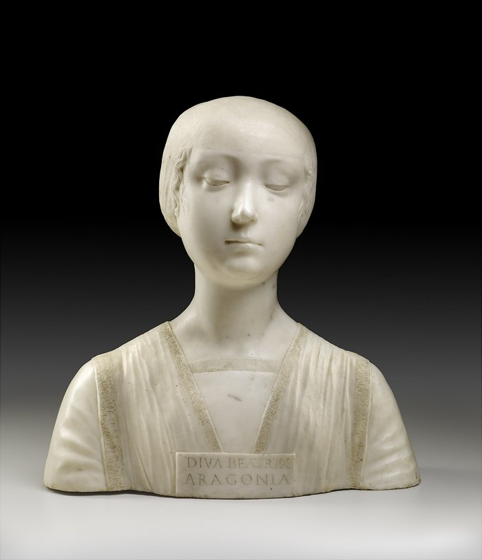 Francesco Laurana, Büste der Beatrix von Aragón Neapel, um 1474/75 Marmor The Frick Collection, New York, Bequest of John D. Rockefeller, Jr., 1961 Foto freundlicherweise vom Schweizerischen Nationalmuseum zur Verfügung gestellt.