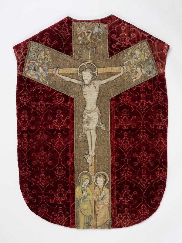 Kasel mit Dorsalkreuz, um 1365/70 Foto freundlicherweise vom Germanischen Nationalmuseum Nürnberg zur Verfügung gestellt.