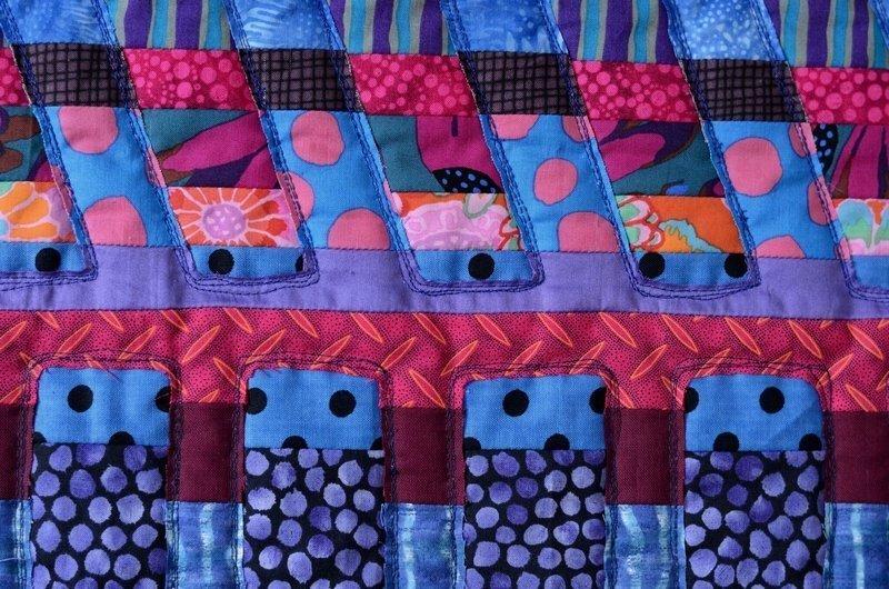 Detail aus einer Arbeit von Maryline Collioud-Robert. Foto freundlicherweise von der Galerie TEXTILALTRO zur Verfügung gestellt.