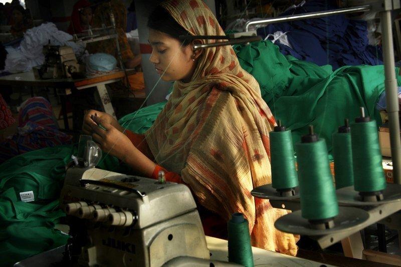 The Life Struggle of Garment Worker Foto: Taslima Akhter Foto freundlicherweise vom Textilmuseum St. Gallen zur Verfügung gestellt.