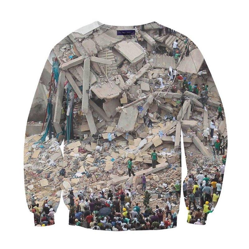 Sweater Entwurf: Manu Washaus, 2013 Foto freundlicherweise vom Textilmuseum St. Gallen zur Verfügung gestellt.